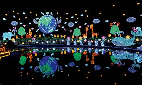 【栃木/2日間】 東日本最大級の足利フラワーパークのイルミネーションと大洗水族館 2日間